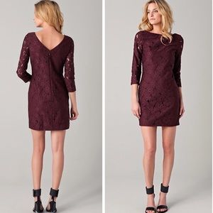 Diane Von Furstenberg Sarita Plum Lace Dress